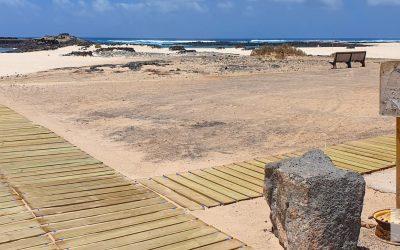 Las playas de La Oliva más accesibles