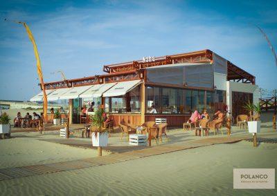 Construcción de chiringuitos de playa
